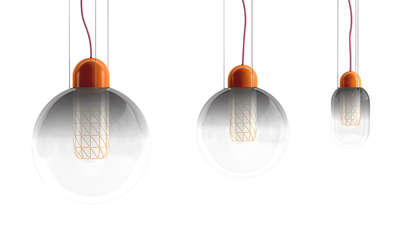 Colour Globe Orange Grid for Moooi ©Scholten & Baijings