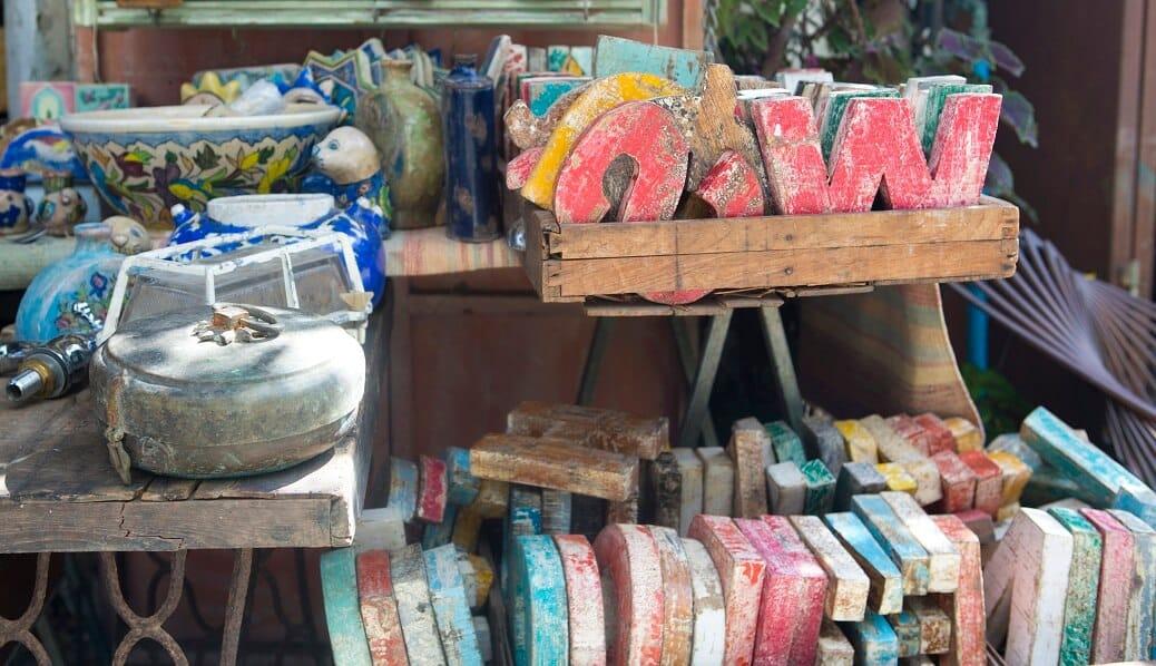 צבעים בשוק הפשפשים